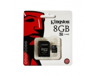 Kingston MicroSDHC 8GB Class 4 +SD Adapter