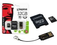 Kingston MicroSDHC 32GB Class 10 +SD Adapter + Card reader